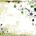 Grunge Floral frame — Stock Vector #1830254
