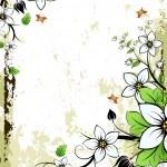 Grunge Floral frame — Stock Vector #1830265