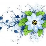 Grunge summer flower — Stock Vector #1830442