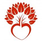 抽象的心树图标徽标 — 图库矢量图片