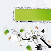 Grunge Flowers frame AD — Stock Vector