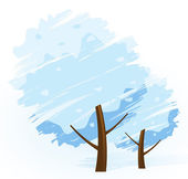 Winter-Baum-Symbol — Stockvektor