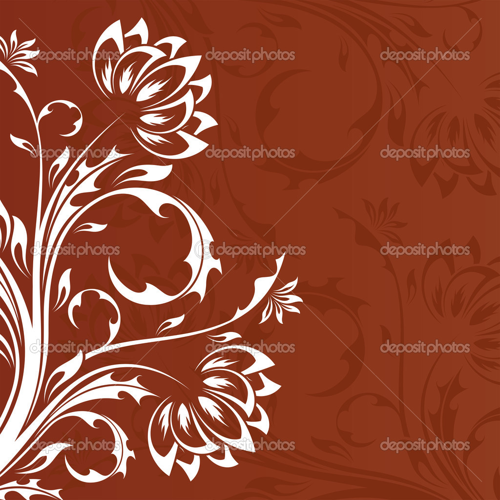 Abstract old style ornament background with flowers — Stock Vector #1830144