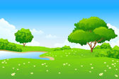 Green landscape — Vector de stock