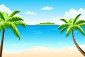Tropical landscape — Stock Vector