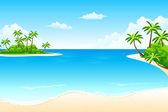 Tropical landschaft — Stockvektor