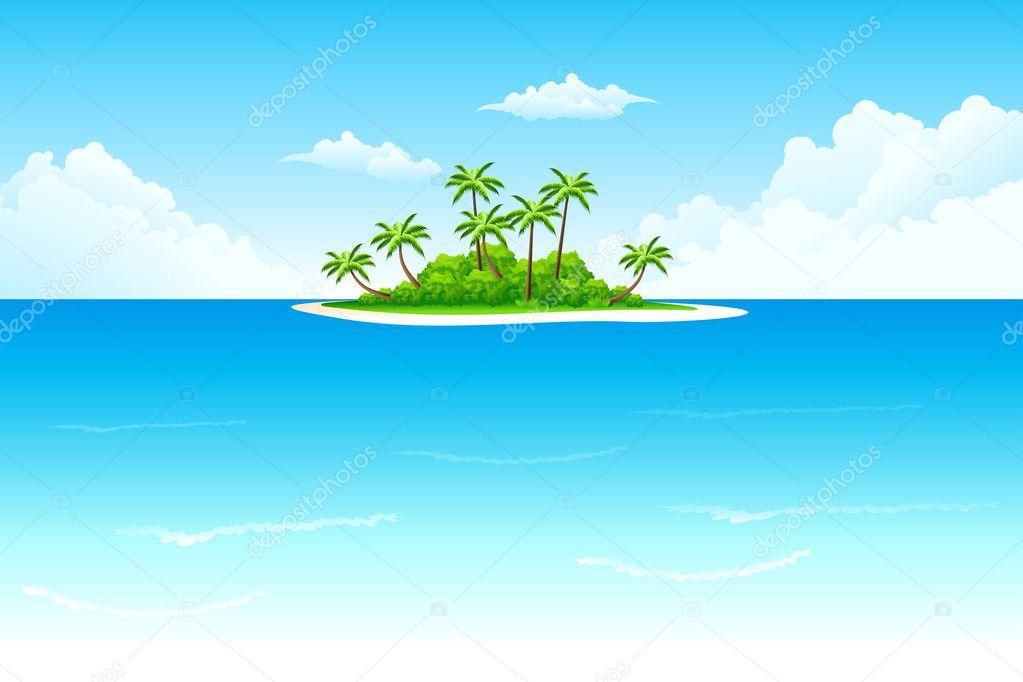 Tropical Island Cartoon: Stock Vector © -=WaD=- #2187638