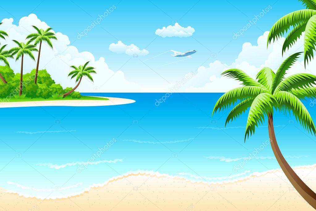 vector scenery tropical - photo #30