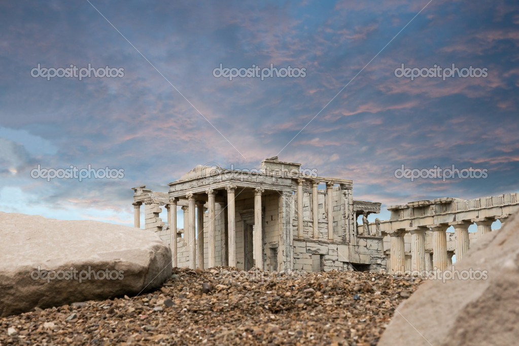 Ancient ruins in the miniature — Stock Photo #1897285