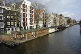 Boat houses Amsterdam — Stock Photo