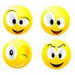 Smiling vector balls — Stock Vector