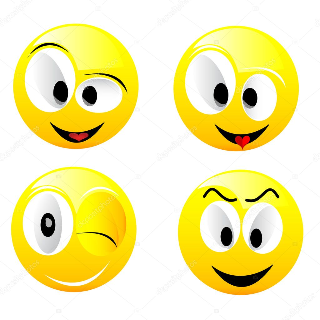 Smiling vector balls  Stock Vector #1730156