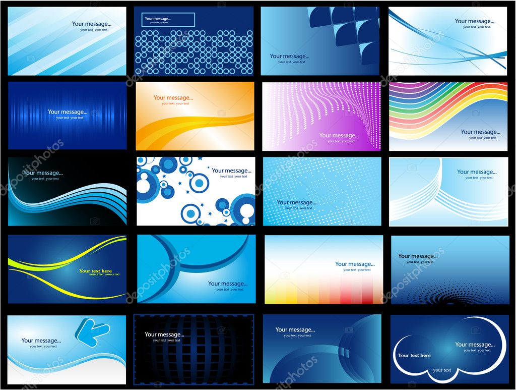 Various Business Card — Imagen vectorial #1927902