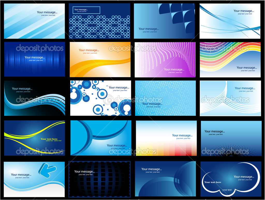 Various Business Card  Stockvektor #1927902
