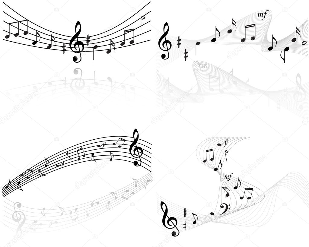 Music notes vector backgrounds — Image vectorielle #2069113