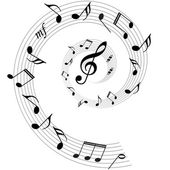 Music notes vector backgrounds — Vettoriale Stock