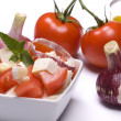 Stock Photo: Cheese and tomato salad