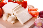 Feta cheese with vegetables — Stock Photo