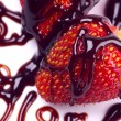 Stock Photo: Straberry fruit with chocolate topping