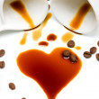 Heart of coffee — Stock Photo