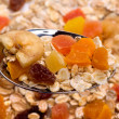 Stock Photo: Muesli with dried fruit