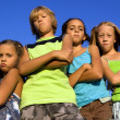 Gang of four serious kids — Stock Photo #1805567