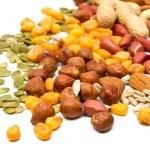 sementes e castanhas — Foto Stock