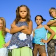 Stock Photo: Gang of four kids
