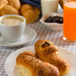 Croissants for breakfast — Stok fotoğraf