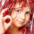 Young girl with carnival wig — Stock Photo #1807468
