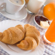 Fresh croissants for breakfast — Stock Photo #1807587