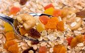 Muesli with dried fruit — Stock Photo