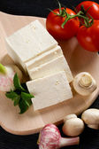 White cheese with vegetables — Stock Photo