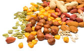 Mixed nuts and seeds — Stock Photo