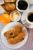Home made croissants for breakfast — Stock Photo