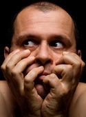 Man in fear — Stock Photo