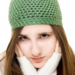 Beautiful young girl in winter outfit — Stock Photo