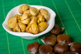 Cooked chestnut cores — Stock Photo