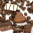 Coffee beans and chocolate — Stock Photo #2066474