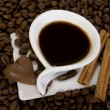 Coffee and chocolate — Stock Photo