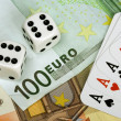 Four aces and euro money — Stok fotoğraf #2067089