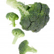 Broccoli on white — Stock Photo