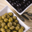 Stock Photo: Green and black olives
