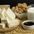 Soy products — Stock Photo