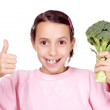 I love broccoli! — Stock Photo #2068499