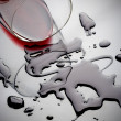 Wine spill — Stock Photo
