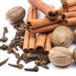 Nutmeg, cloves and cinnamon sticks — Stock Photo #2068835