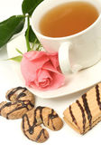 Cookies and tea — Stock Photo