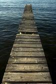 木码头 — 图库照片