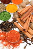 Red pepper and other spices — Stock Photo